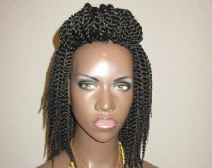 Essence Wigs Mini Twists Crochet Wig Black Natural Hair Two Strand Twist Unit