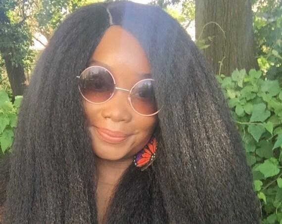 Essence Wigs Gorgeous 'LIONESS' Wig Full Cap Crochet Wig Braid Unit Textured Premium Fibers 4b 4c Kinky Straight Wig Hair
