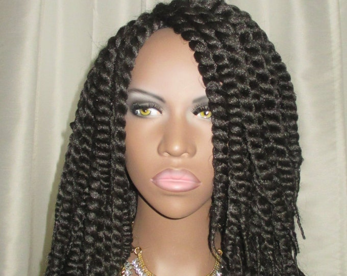 Essence Wigs Afro Mambo Twist Black Crochet Wig Unit