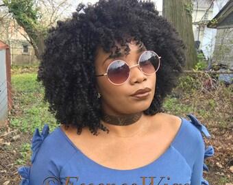 Essence Wigs 'Curlz N Kinkz' Black Natural Hair Wig Lace Wig Unit
