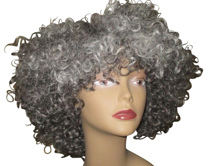 Lovely Gray Wig 'Jessie' Natural Hair Kinky Curly Wig Unit