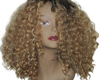 Amazing Sugar n Spice Natural Hair Kinky Beach Waves Curly Bob Wig Unit 4b 4c 4a 3c Beyonce Wig