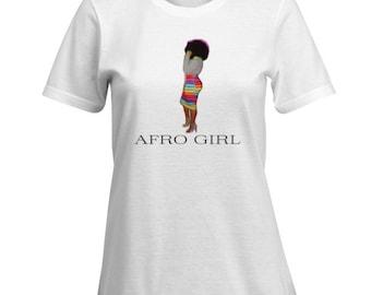 "Kinky Kulture Collection Tee T-Shirt ""AFRO GIRL"" Tee"