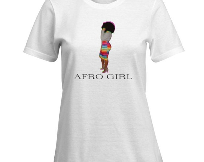 "Kinky Kulture Collection Tee T-Shirt ""AFRO GIRL"" Tee"