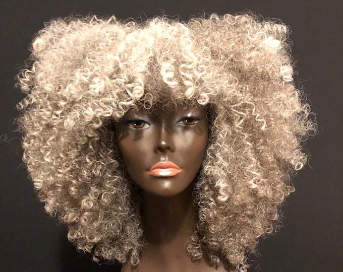 "Essence Wigs Pretty Gray ""Lola""  Kinky Curly Wig Unit"