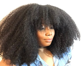 Essence Wigs Natural Hair Bohemian Vibe 4A/4B Mix Afro Texture Hair Wig 4b 4c