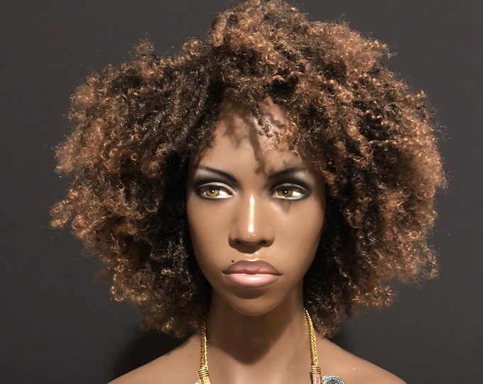 Essence Wigs Ombre Blonde Rasta Twist Afro Wig Full Cap Natural Hair Type 4c