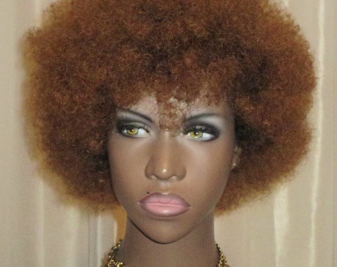"Essence Wigs ""Baby Bee Fro"" 100% Remy Human Hair Black Wig Kinky Afro Wig Unit 4b 4a TWA"