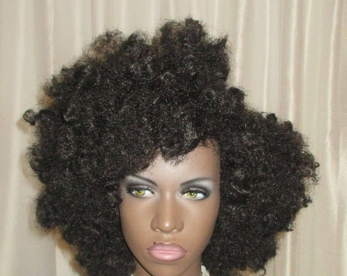 """Essence Wigs """"Fluffy Curls"""" Tousled Afro Wig Unit Type 4"""
