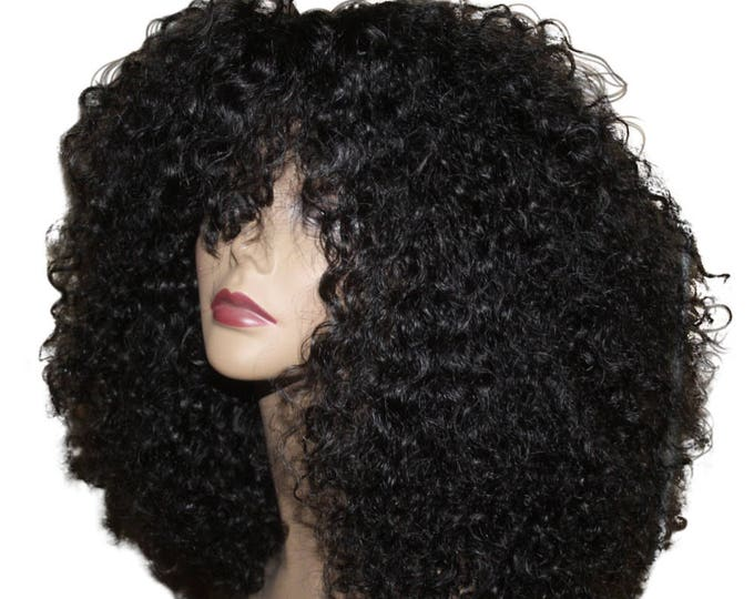 Essence Wigs 100% Indian Remy Human Hair Black Wig Natural Hair kinky Curly Unit