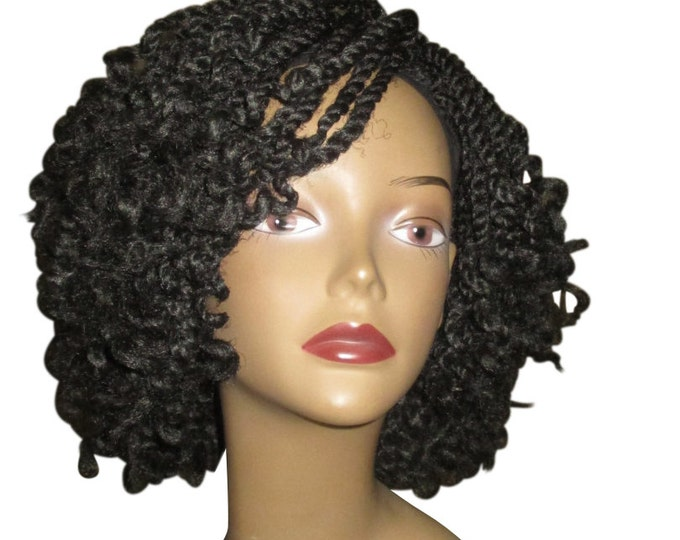 Essence Wigs Curly Kinky Twists Crochet Wig Black Natural Hair Marley Two Strand Twist Unit