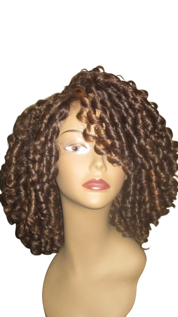 Essence Wigs The 'Shirley Temple' Lace Wig Full Cap Unit Sustainable Curly Kinky Lacefront Wig