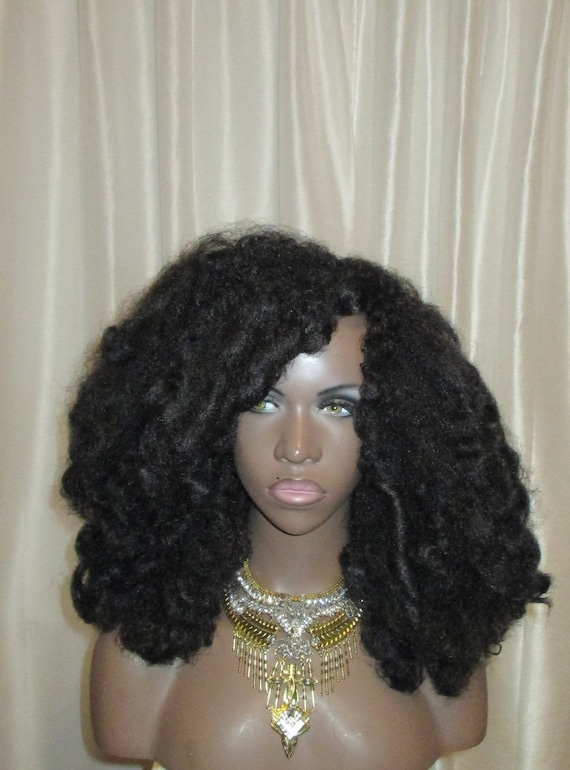 "Essence Wigs ""Fluffy Curls"" (Long Length) Tousled Natural Hair Wig Unit Type 4"
