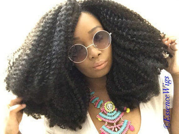 Essence Wigs 'Textured Tresses Afro' Natural Hair BIG Super Full Voluminous Kinky Curly Textured Hair Wig 4b 4c