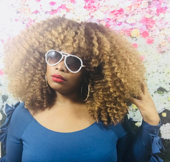 Essence Wigs 'Sunflower Pop' Natural Hair BIG Hair Wig