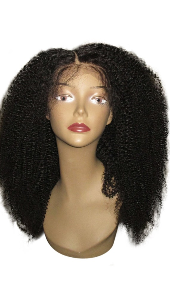 """Essence Wigs Lacefront """"Lush Kinks"""" 100% Ethiopian Virgin Remy Wig Human Hair NATURAL Kinky Curly Wig"""