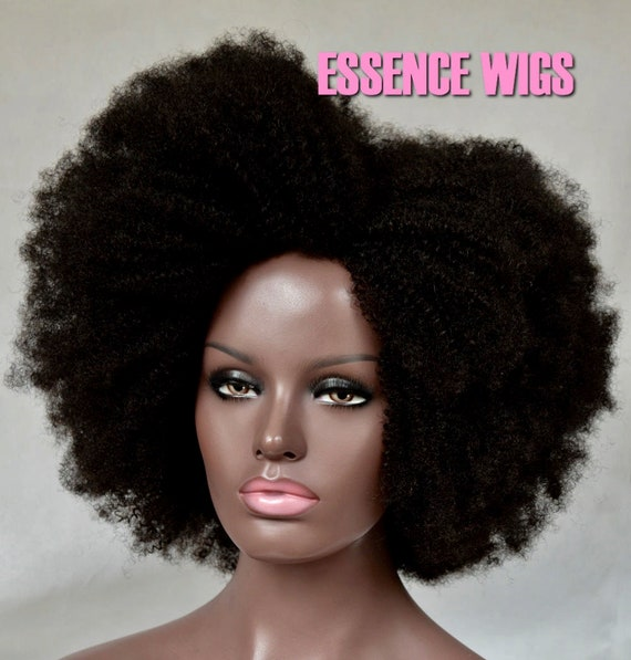 "Essence Wigs ""Solo Fro"" Afro 100% Human Hair Wig Unit"
