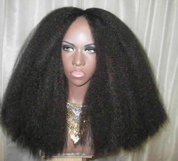 Essence Wigs New 'EMPRESS' Thick Kinky Straight Available in Color GRAY Full Cap Crochet Braid Wig Unit 4A BIG Hair
