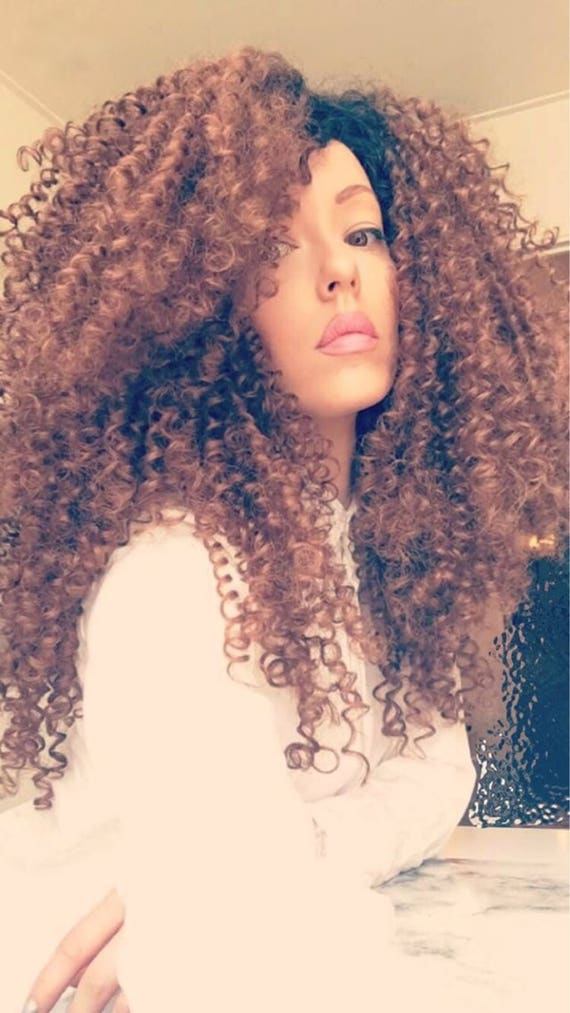 Essence Wigs The 'JANET JACKSON' Honey Blonde Natural Hair Lace Wig Premium Remy Sustainable Fibers Kinky Straw Curl Lacefront Wig
