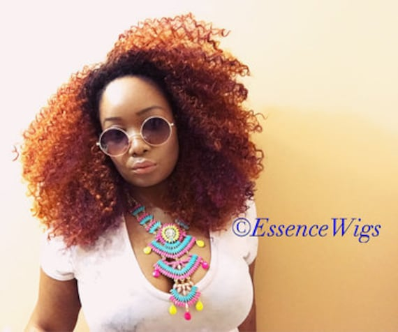 Essence Wigs Gorgeous 'CopPer-Fect ' Big Curly Wig Unit Copper colored unit