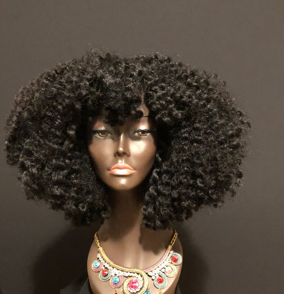 Essence Wigs 'Candace' Twist out Natural Hair Crochet Wig Textured Hair Wig (Shorter) 4a 4B