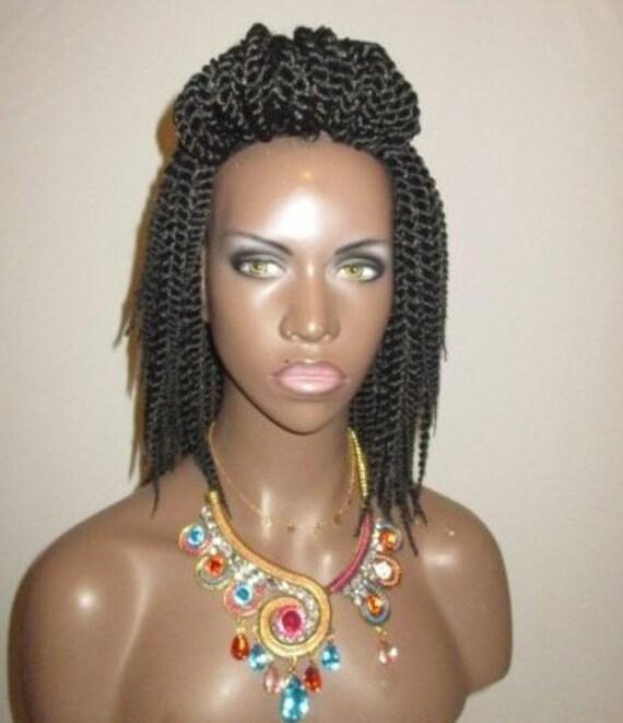 Essence Wigs Mini Twists Crochet Wig Black Natural Hair Two Strand Twist Unit
