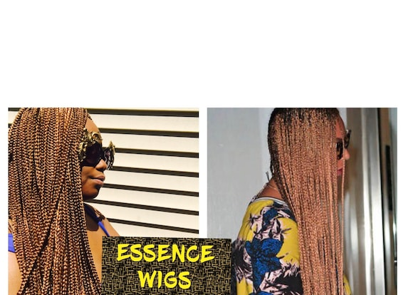 "Essence Wigs ""Yonce"" Golden Brown X-Long Box Braids Crochet Wig Beyonce braids"