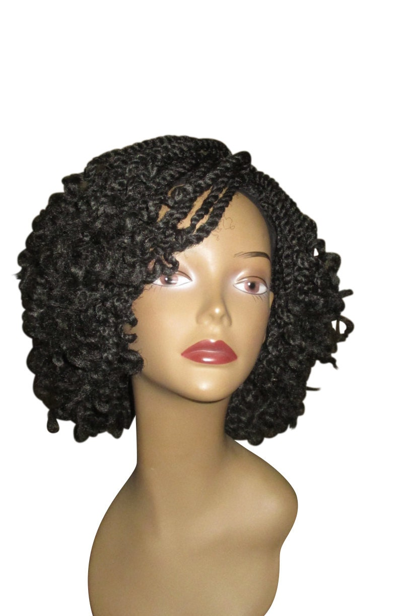 Essence Wigs Curly Kinky Twists Crochet Wig Black Natural Hair