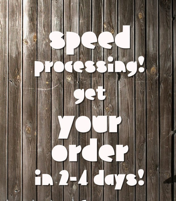 Speed Processing (Speed it up for ME)! DOMESTIC CUSTOMERS