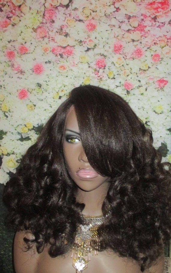 Essence Wigs 'Curly Cascade' Natural Yaki Hair Wig Unit