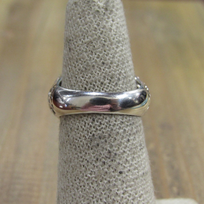 Vintage Sterling Silver Heart Ring Size 6