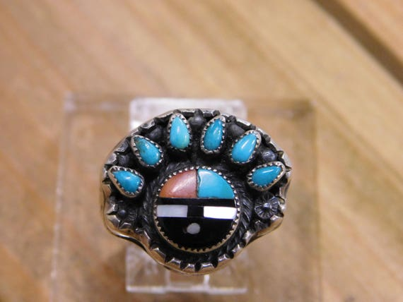Sterling Silver Multi Stone Ring Size 6.75