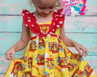 Girls Custom Daniel Tiger Trolley Birthday Party Pageant Dress Outfit f1611a98a