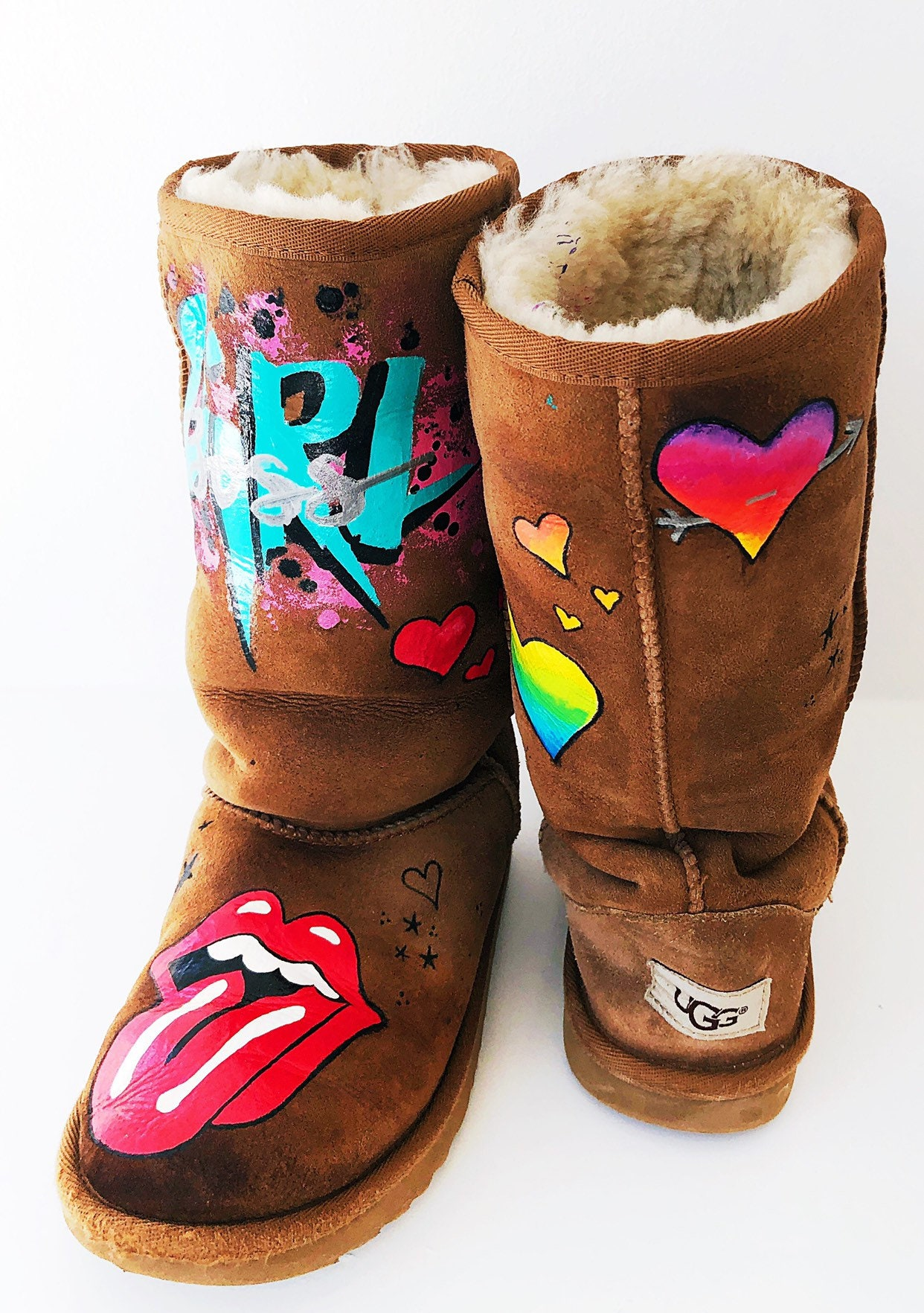 49a1cf7c5b0 Custom Uggs - painted Uggs - personalized Uggs - handpainted Uggs -  Personalized Gifts for Teens