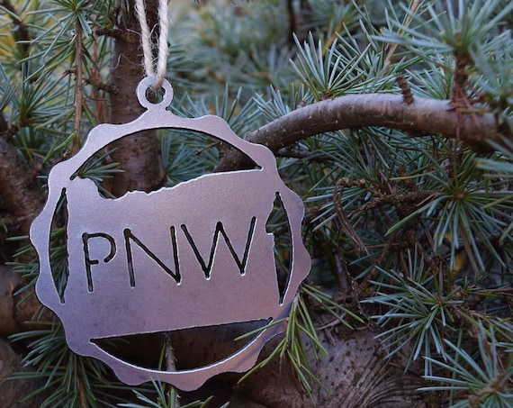 Pacific Northwest Oregon Ornament | PNW Ornament | Outdoors Ornament | Christmas Ornament | Hiking Decor | Woods Decor | Forest Ornament