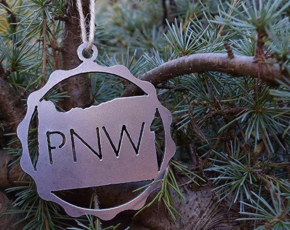 Pacific Northwest Oregon Ornament | PNW Ornament | Outdoors Ornament | Christmas Ornament | Hiking Decor | Woods Decor | Forest Ornament
