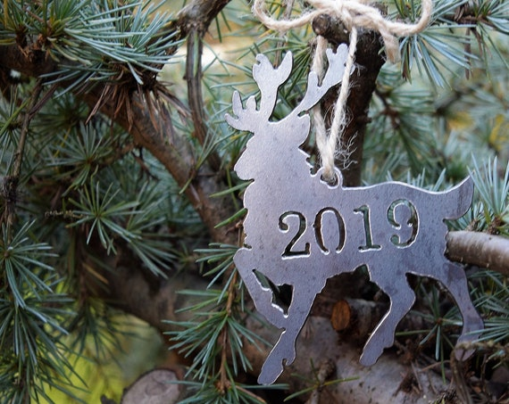 2019 Metal Reindeer Ornaments  | Christmas Ornament | Deer Ornament | Christmas Decoration | Deer | Reindeer | Keepsake Ornament