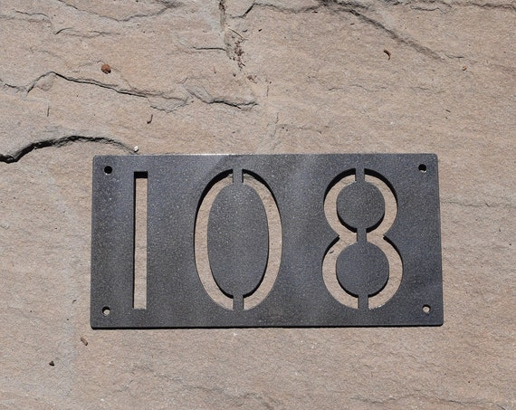 Metal Horizontal Home Address Sign Modern Font | Personalized House Number Plaque | Address Plaque | Outdoor Sign| House Numbers