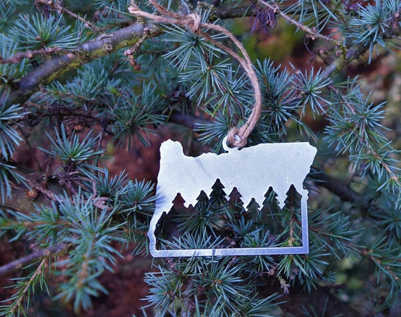 Oregon Forest Ornament | PNW Ornament | Outdoors Ornament | Christmas Ornament | Hiking Decor | Woods Decor | Forest Ornament