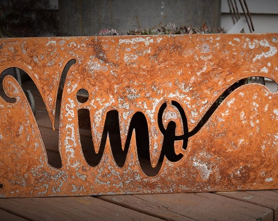 Metal Wine Sign | Vineyard | Drink Wine | Wine Glass | Red Wine | Grapes | Wino | Vino | Wine Art | Wine Decor | Wine Metal Sign | Vino