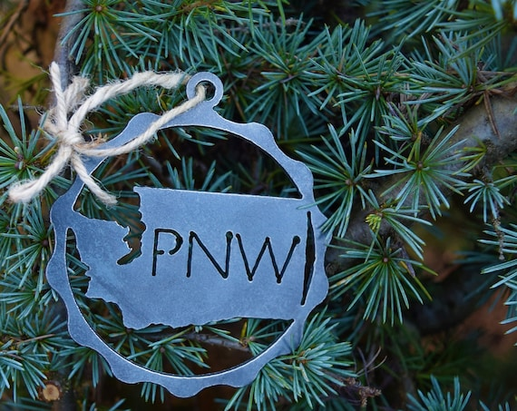 Pacific Northwest Washington Ornament | PNW Ornament | Outdoors Ornament | Christmas Ornament | Hiking Decor | Woods Decor | Forest Ornament