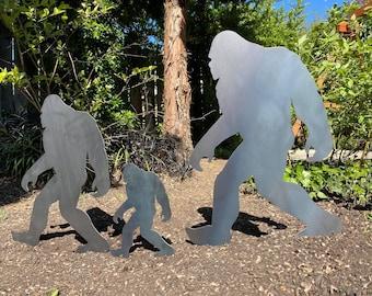 Sasquatch Garden Stakes   Bigfoot Yard Stakes   Staked Yard Art   Metal Sasquatch   Custom Yard Art   Bigfoot Yard Art