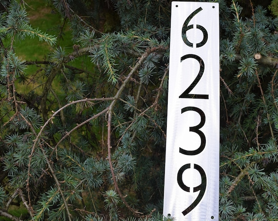 Metal Vertical Home Address Sign