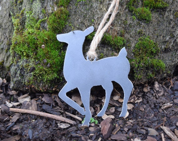 Doe Metal Ornaments | Deer Ornament | Reindeer | Christmas Ornament | Christmas Sign | Holiday Decor |Christmas Decor | Christmas Tree