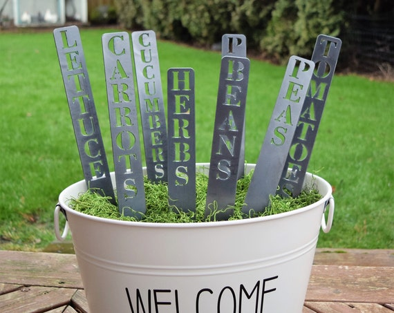Individual Metal Garden Markers | Plant Stakes | Herb Markers | Metal Garden Stakes | Vegetable Markers | Gardening