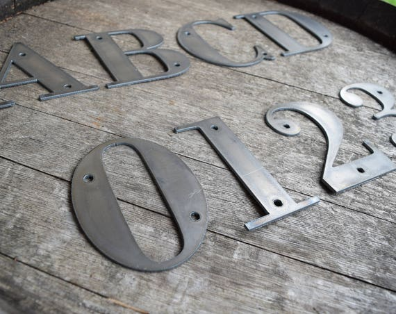 """6"""" Tall Metal Letters and Numbers   Rustic Letters   Metal Letters   Metal Numbers   Numbers   Small Metal Letters  Custom Metal Letters"""
