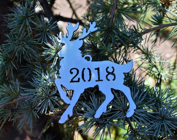 2018 Metal Reindeer Ornaments  | Christmas Ornament | Deer Ornament | Christmas Decoration | Deer | Reindeer | Keepsake Ornament