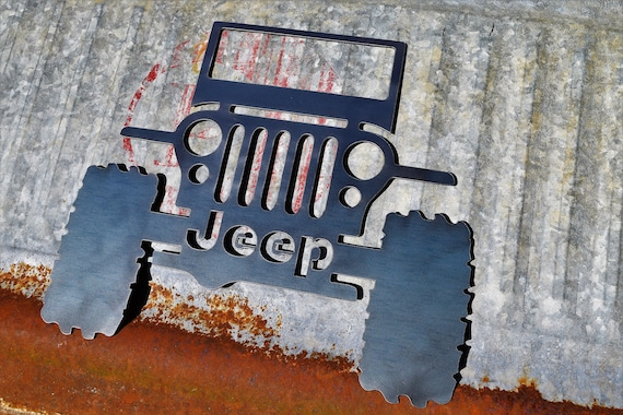 Jeep Metal Rustic Sign | Off Roading Explore Trails Adventure 4x4 | Jeep Sign | Garage Sign | Man Cave | Jeep Club | Car Club | Outdoors