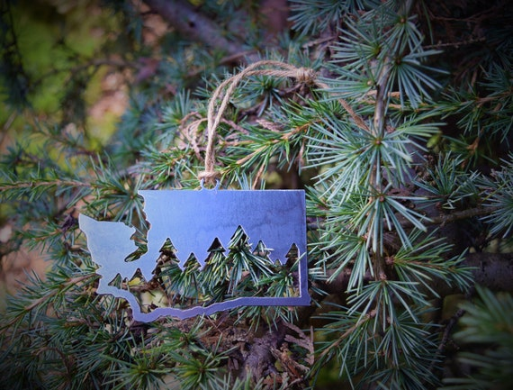 Washington Forest Ornament | PNW Ornament | Outdoors Ornament | Christmas Ornament | Hiking Decor | Woods Decor | Forest Ornament