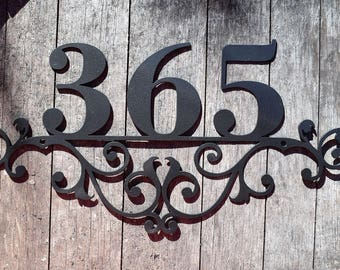 313da3ce90b7 Metal Outdoor Home Address Sign- Personalized House Number Plaque. Address  Plaque. Outdoor Sign. House Number Plaque. Door Numbers
